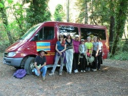 Image: Backpacker shuttle - Mendo Insider Tours